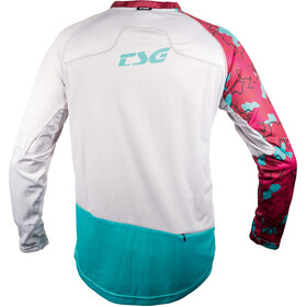 TSG MJ2 Maillot à manches longues Homme, wine-turquoise